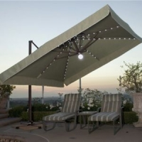 Side Post Valance U0026 Cantilever Tilting Patio Umbrellas For