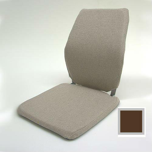 Sacro Ease - BRNCCF-BRN - Deluxe Memory Foam Car Seat Back Support Cushion - Brown - Width - 12 in.