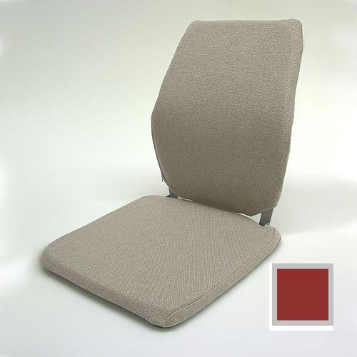 Sacro Ease - BRNCCF-RED - Deluxe Memory Foam Car Seat Back Support Cushion - Red - Width - 12 in.