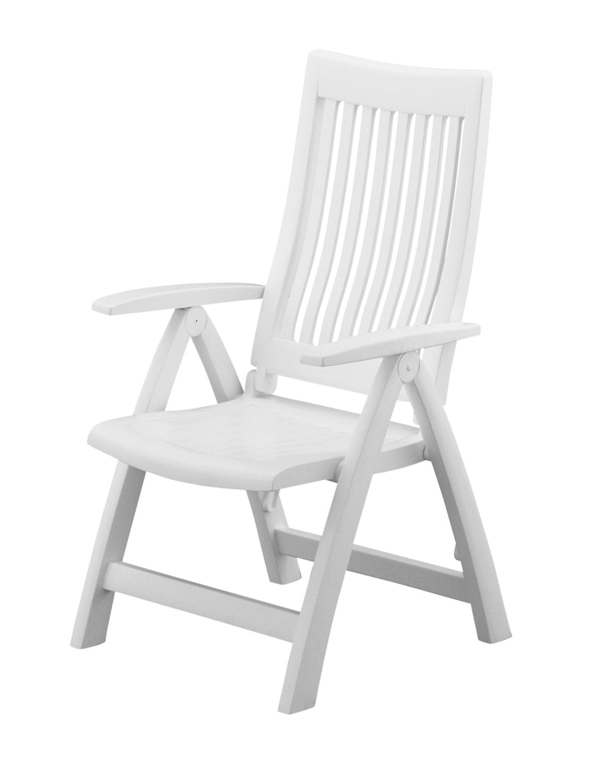 Kettler - 1438-000 - Roma Highback Chair Reclining Patio Chair - White - Standard