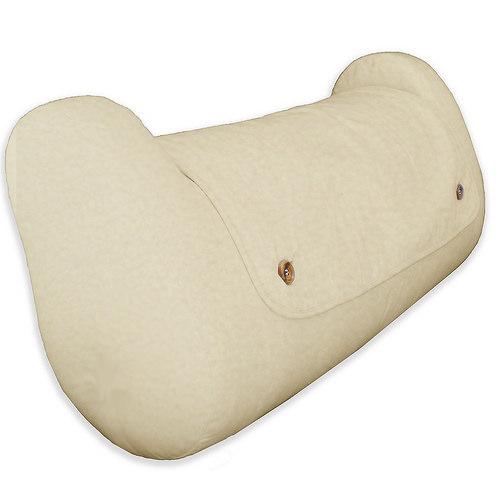 QBC Bundled Cequal Leglounger Bed Reading Leg and Knee Pillow - Hypoallergenic - Navy -Plus Free QBC Ergonomics eBook