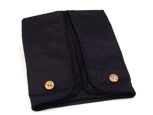 Cequal Leglounger Leg and Knee Pillow Cover Black Cotton