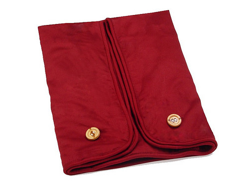 Cequal Leglounger Leg and Knee Pillow Cover Burgundy Cotton