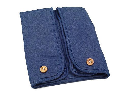 Cequal Leglounger Leg and Knee Pillow Cover Denim Cotton