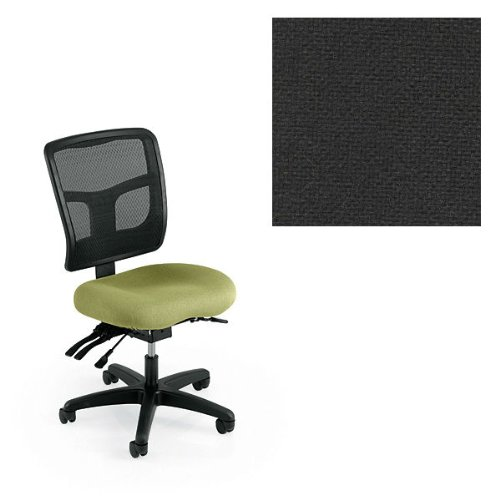 Office Master YS72-1020 Yes Series Mesh Back Multi Adjustable Ergonomic Office Chair - Grade 1 Fabric - Basic Black
