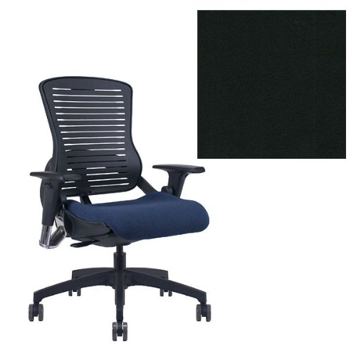 Office Master OM5 Black Frame Ergonomic Modern Stylish Office Chair with Adjustable Arms - Grade 1 Fabric Elements Carbon