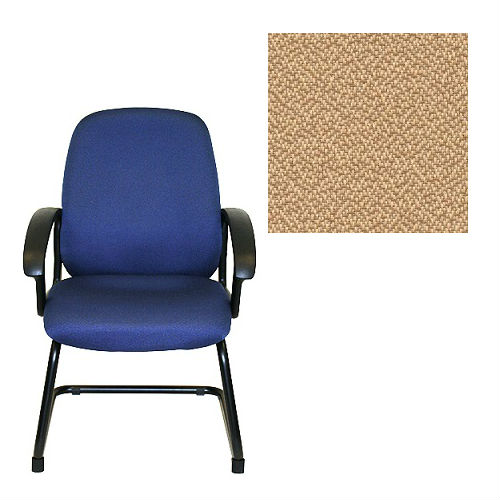 Office Master BC Collection BC86S Ergonomic Side Chair - With Armrests - Grade 1 Fabric - Spice Sesame Beige 1166 PLUS Free Ergonomics eBook
