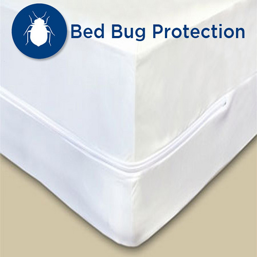 Gotcha Covered Bed Bug Encasements KING 100 Percent polyester and 100 Percent waterproof Barrier on all 6 Sides - Fits to 12 - 14 in. White Color