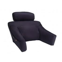BedLounge Reading Pillow - BedLounge -Regular Size, Cotton Cover, Black Color - 1040404