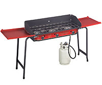 Camp Chef - GB-90D - Pro 90 Gas Grill 3 Burner Propane Cooking System - Red & Black - 90k BTU