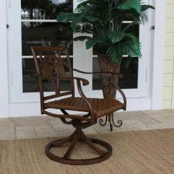 Patio Swivel Rocking Dining Chair