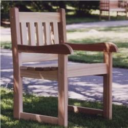 CEDAR ARM CHAIR - Outdoor Dining Chairs Tables and Patio