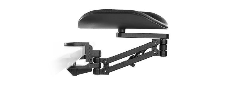 ErgoRest - 330-016-BK - ErgoRest Articulating Arm Support - Black - Long Arm, Long Pad