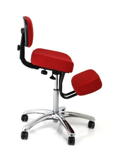 Jobri Red Jazzy Chrome Deluxe Kneeling Chair - Red