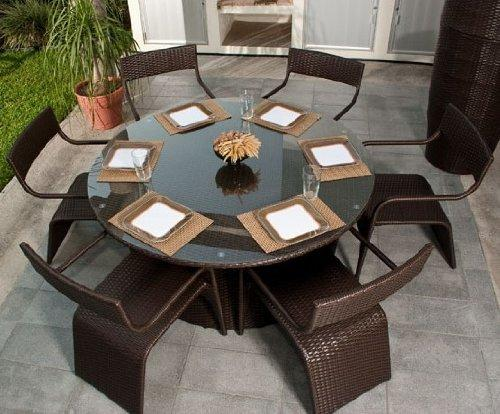 ELB Outdoor Summerbreeze Wicker 7-piece Dining Set