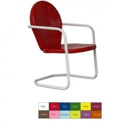 Retro Metal Lawn Chair (Blue) (34
