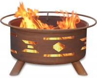 Patina - F101 - Mosaic Fire Pit Grill - Rust - 24 in.