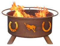 Patina - F105 - Horseshoe Fire Pit Grill - Rust - 24 in.