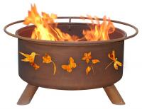 Patina - F110 - Flower Fire Pit Grill - Rust - 24 in.