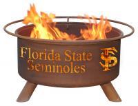 Florida State Seminoles Fire Pit Grill - Rust Patina - Patina F211 - 30 Inch Collegiate Fire Pit