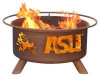 Arizona State Sun Devils Fire Pit Grill - Rust Patina - Patina F213 - 30 Inch Collegiate Fire Pit