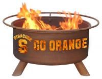 Syracuse University Orange Fire Pit Grill - Rust Patina - Patina F215 - 30 Inch Collegiate Fire Pit