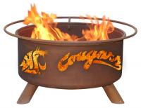 Washington State Cougars Fire Pit Grill - Rust Patina - Patina F216 - 30 Inch Collegiate Fire Pit