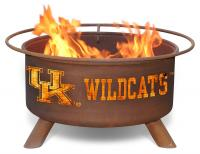 University of Kentucky Wildcats Fire Pit Grill - Rust Patina - Patina F219 - 30 Inch Collegiate Fire Pit