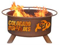 University of Colorado Buffaloes Fire Pit Grill - Rust Patina - Patina F223 - 30 Inch Collegiate Fire Pit