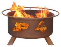 Purdue Boilermakers Fire Pit Grill - Rust Patina - Patina F229 - 30 Inch Collegiate Fire Pit