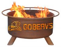 Oregon State Beavers Fire Pit Grill - Rust Patina - Patina F231 - 30 Inch Collegiate Fire Pit