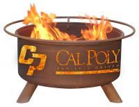 Cal Poly San Luis Obispo Fire Pit Grill - Rust Patina - Patina F235 - 30 Inch Collegiate Fire Pit