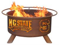 North Carolina State University Wolfpack Fire Pit Grill - Rust Patina - Patina F237 - 30 Inch Collegiate Fire Pit
