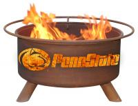 Penn State University Nittany Lion Fire Pit Grill - Rust Patina - Patina F240 - 30 Inch Collegiate Fire Pit