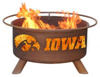 University of Iowa Hawkeyes Fire Pit Grill - Rust Patina - Patina F241 - 30 Inch Collegiate Fire Pit