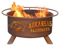 University of Arkansas Razorbacks Fire Pit Grill - Rust Patina - Patina F244 - 30 Inch Collegiate Fire Pit
