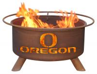 University of Oregon Ducks Fire Pit Grill - Rust Patina - Patina F245 - 30 Inch Collegiate Fire Pit