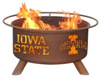 Iowa State University Cyclones Fire Pit Grill - Rust Patina - Patina F247 - 30 Inch Collegiate Fire Pit