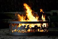 38 Inch Fire Ring - Mustangs Steel Fire Pit