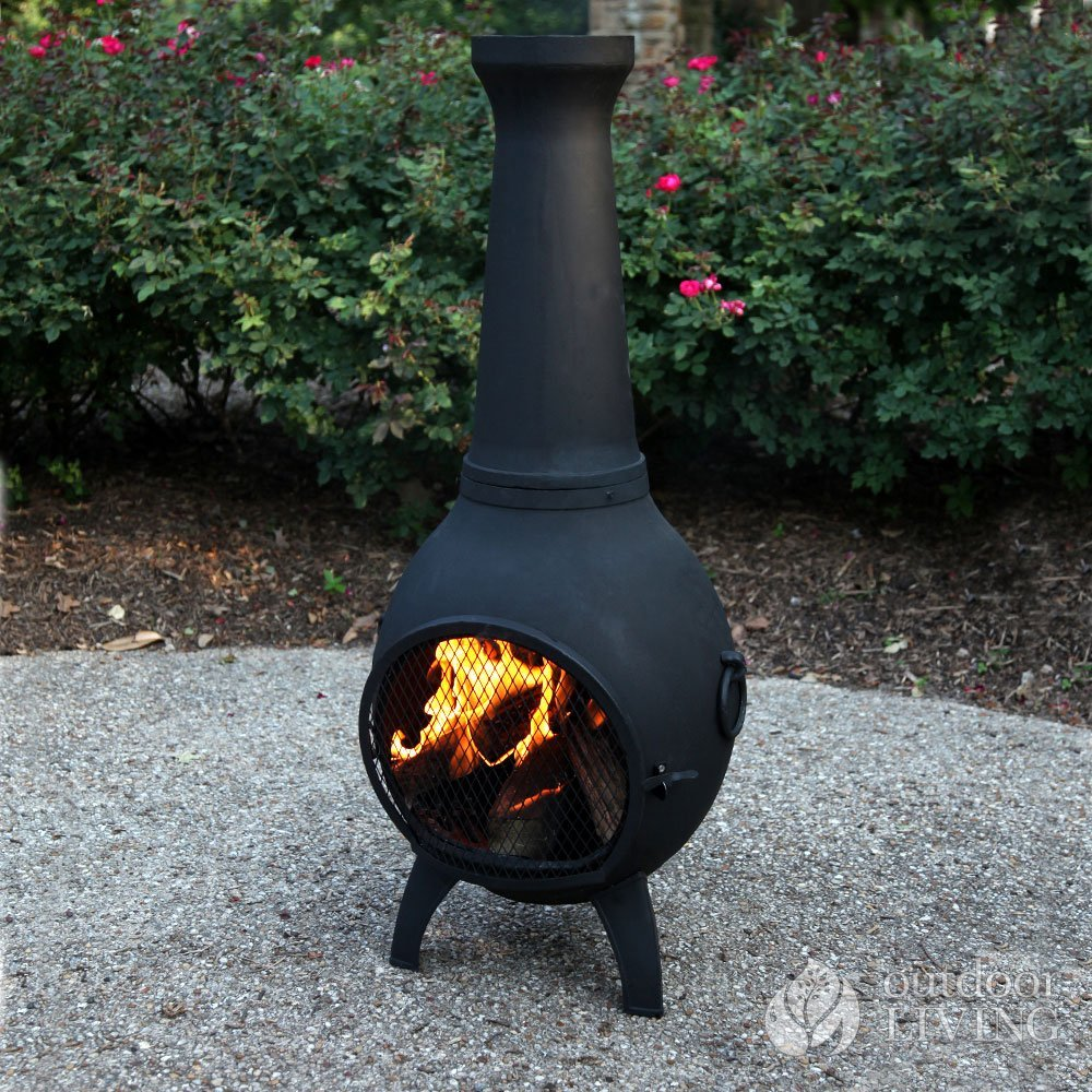 Incredible Chiminea Outdoor Fireplace Blue Rooster Alch027 Prairie Home Interior And Landscaping Ologienasavecom
